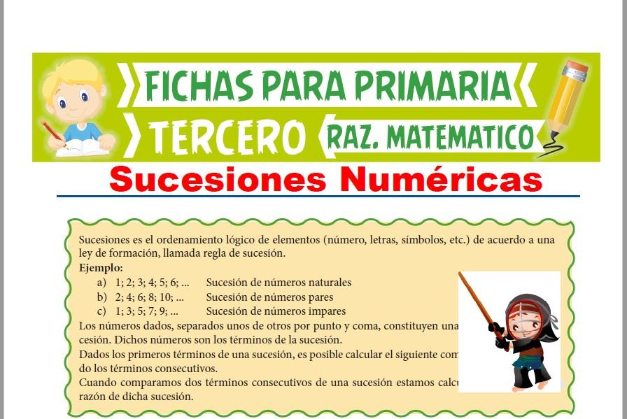 Ficha de Ejercicios de Sucesiones Numéricas para Tercer Grado de Primaria
