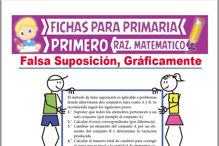 Ficha de Falsa Suposición para Primer Grado de Primaria