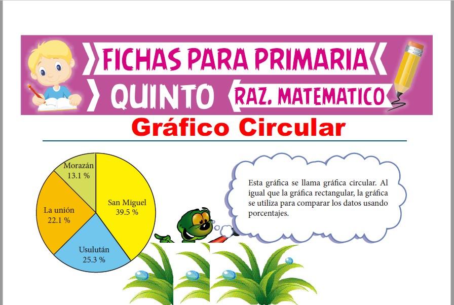 Ficha de Gráfico Circular para Quinto Grado de Primaria