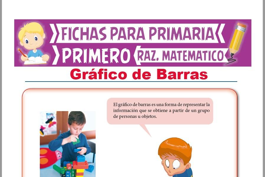 Ficha de Gráfico de Barras para Niños para Primer Grado de Primaria