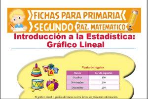 Ficha de Gráfico de Lineal para Segundo Grado de Primaria