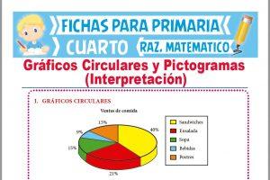 Ficha de Interpretación de Gráficos Circulares y Pictogramas para Cuarto de Primaria