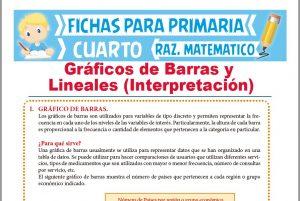 Ficha de Interpretación de Gráficos de Barras y Lineales para Cuarto de Primaria
