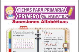Ficha de Las Sucesiones Alfabéticas para Primer Grado de Primaria