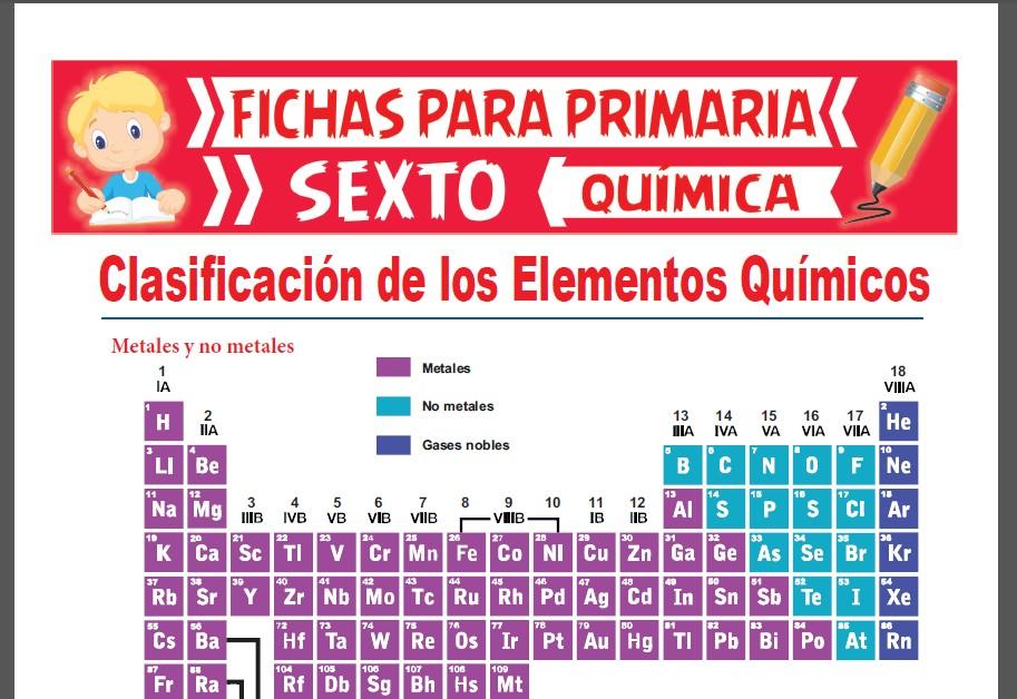 Ficha de Los Metales y No Metales para Sexto Grado de Primaria