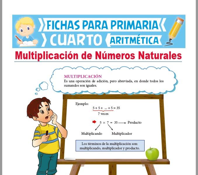 Multiplicación de Números Naturales para Cuarto de Primaria ...
