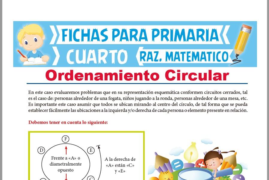 Ficha de Ordenamiento Circular para Cuarto de Primaria
