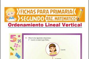 Ficha de Ordenamiento Lineal Vertical para Segundo Grado de Primaria