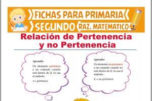 Ficha de Pertenece o No Pertenece para Segundo Grado de Primaria