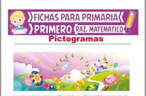 Ficha de Pictogramas para Niños para Primer Grado de Primaria