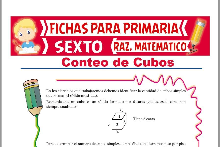 Ficha de Práctica de Conteo de Cubos para Sexto de Primaria