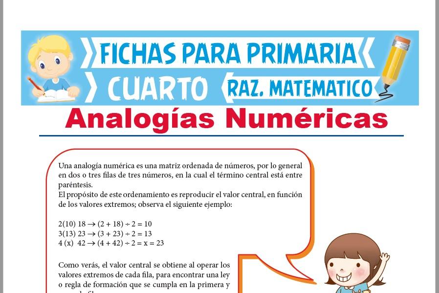 Problemas de Analogías Numéricas para Cuarto de Primaria | Actividades