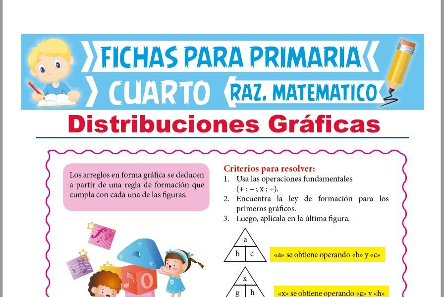 Ficha de Problemas de Distribuciones Gráficas para Cuarto de Primaria