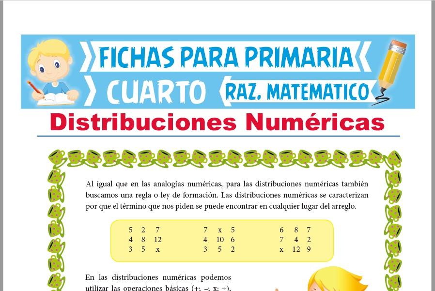 Problemas de Distribuciones Numéricas para Cuarto de ...