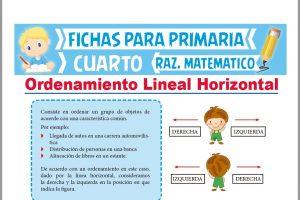 Ficha de Problemas de Ordenamiento Lineal Horizontal para Cuarto de Primaria