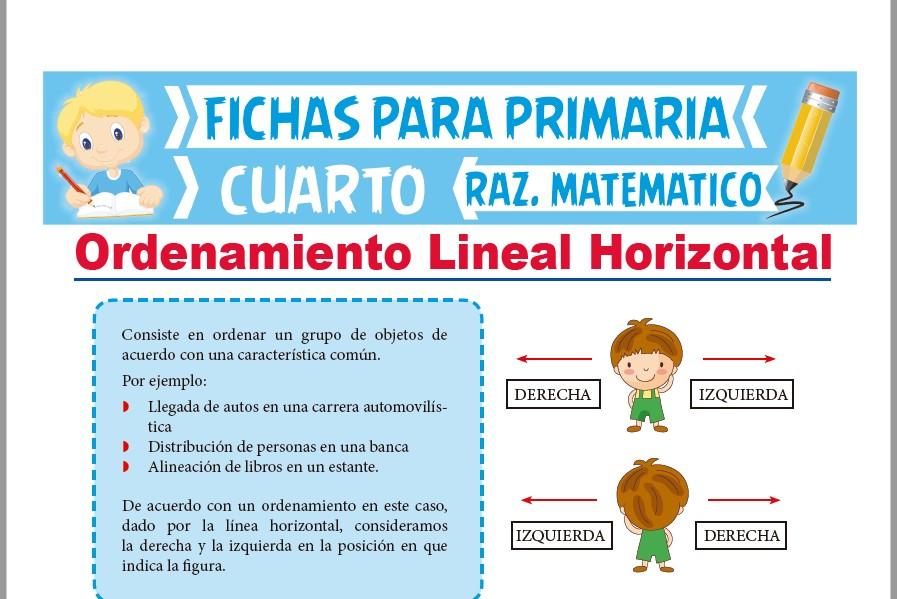 Problemas de Ordenamiento Lineal Horizontal para Cuarto de ...