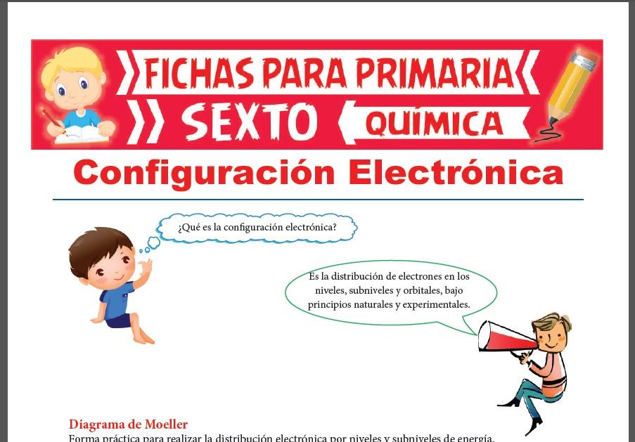 Ficha de Que es la Configuración Electrónica para Sexto Grado de Primaria