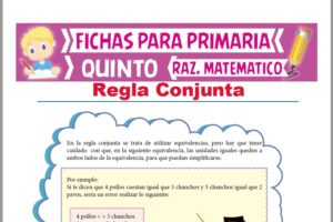 Ficha de Regla Conjunta para Quinto Grado de Primaria