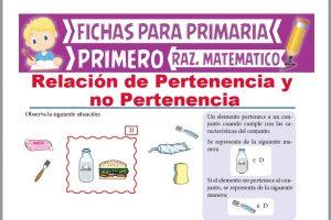 Ficha de Relación de Pertenencia y No Pertenencia para Primer Grado de Primaria