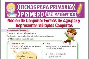 Ficha de Representación de un Conjunto para Primer Grado de Primaria