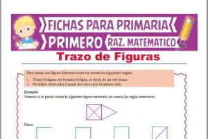 Ficha de Trazo de figuras para Niños para Primer Grado de Primaria