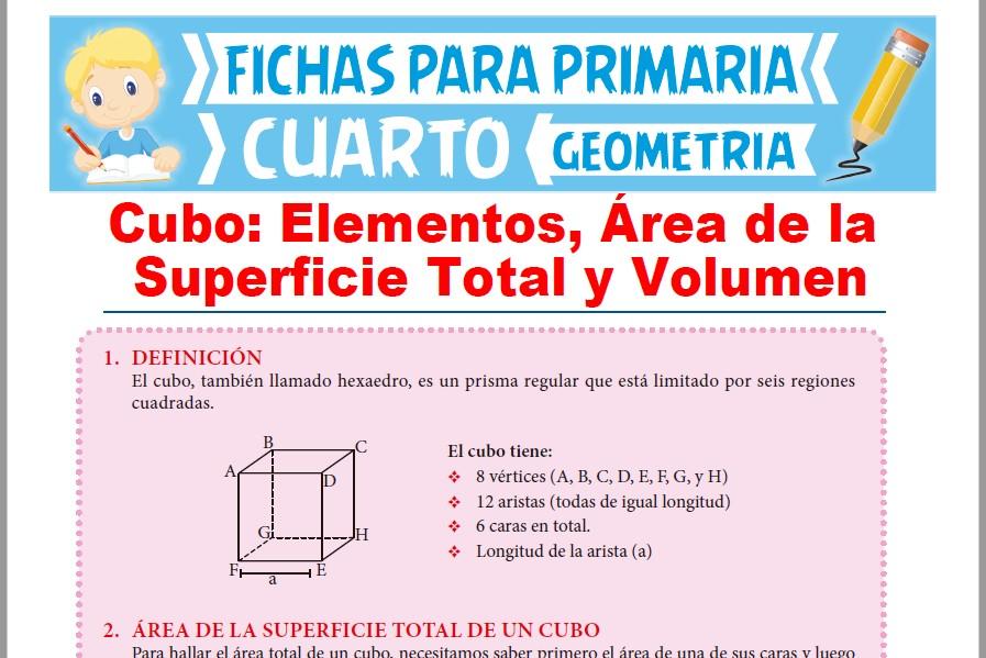 Área y Volumen del Cubo para Cuarto Grado de Primaria ...