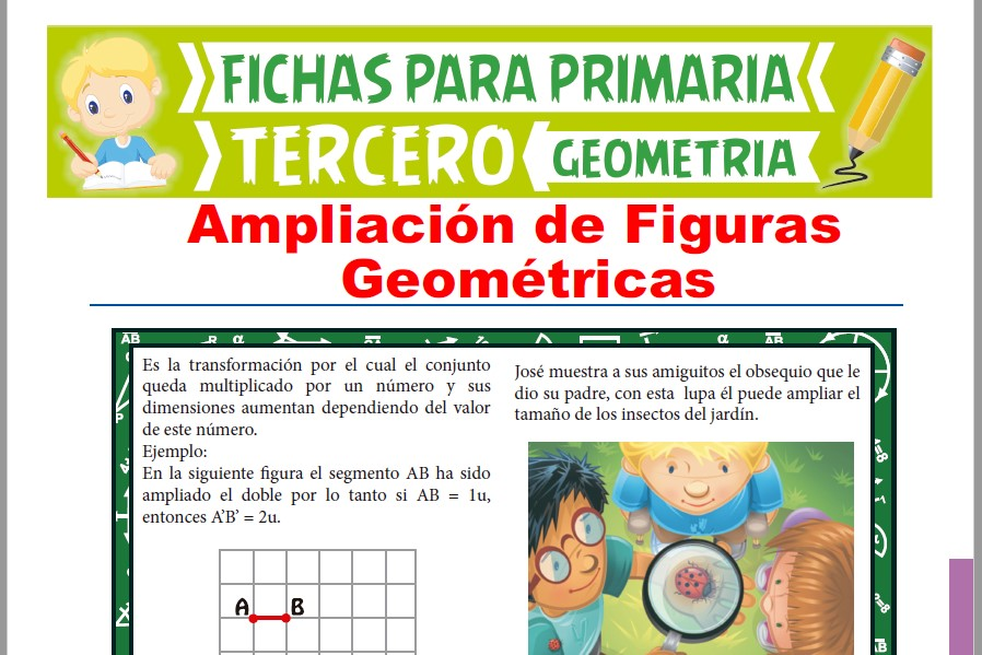 Ficha de Ampliación de Figuras Geométricas para Tercer Grado de Primaria