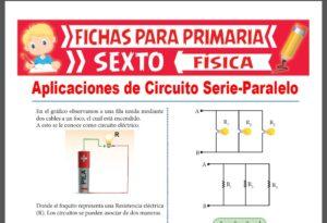 Ficha de Aplicaciones de Circuito Serie y Paralelo para Sexto Grado de Primaria
