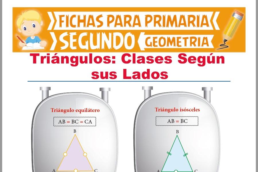 Ficha de Clases de Triángulos Según sus Lados para Segundo Grado de Primaria