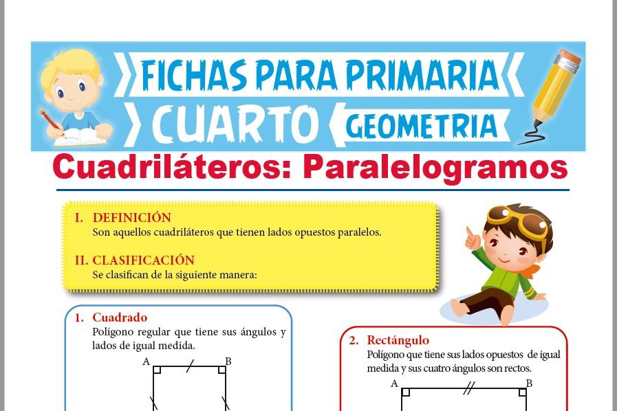 Clasificación de los Paralelogramos para Cuarto Grado de ...