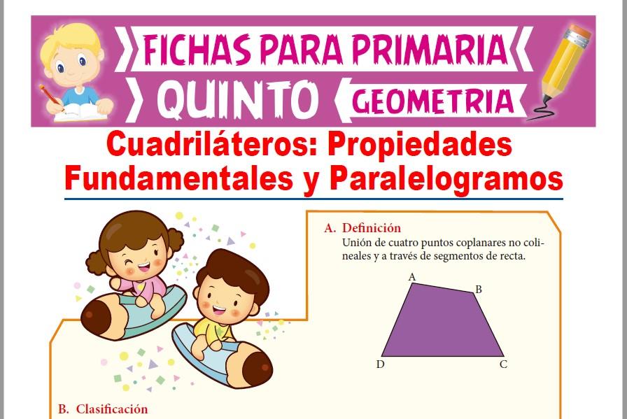 Ficha de Definición y Clases de Paralelogramos para Quinto Grado de Primaria