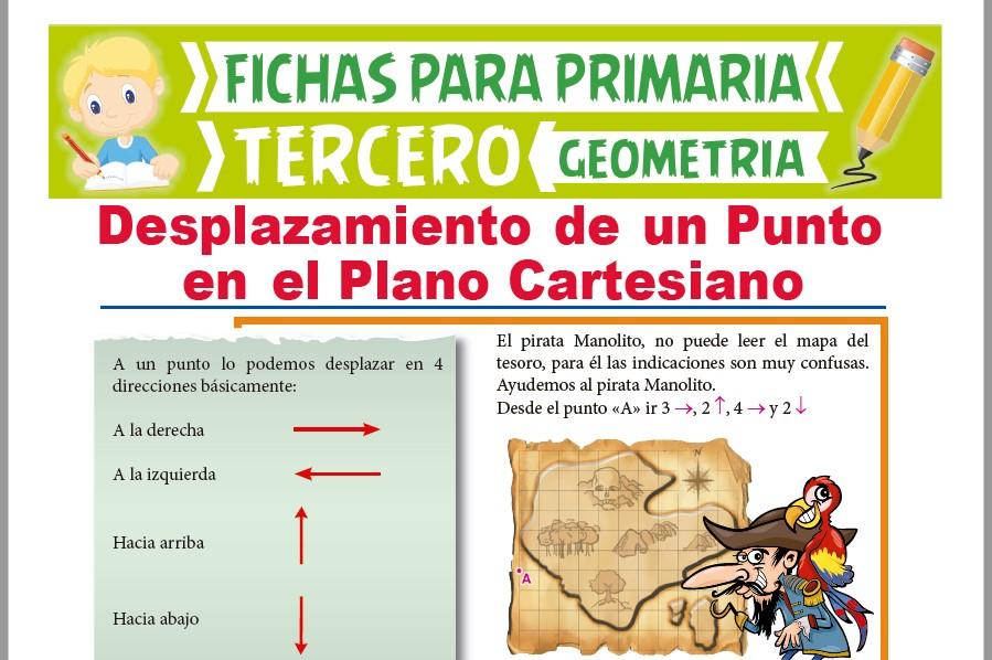 Ficha de Desplazamiento de un Punto en el Plano Cartesiano para Tercer Grado de Primaria