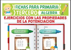 Ficha de Ejercicios con las Propiedades de la Potenciación para Tercer Grado de Primaria