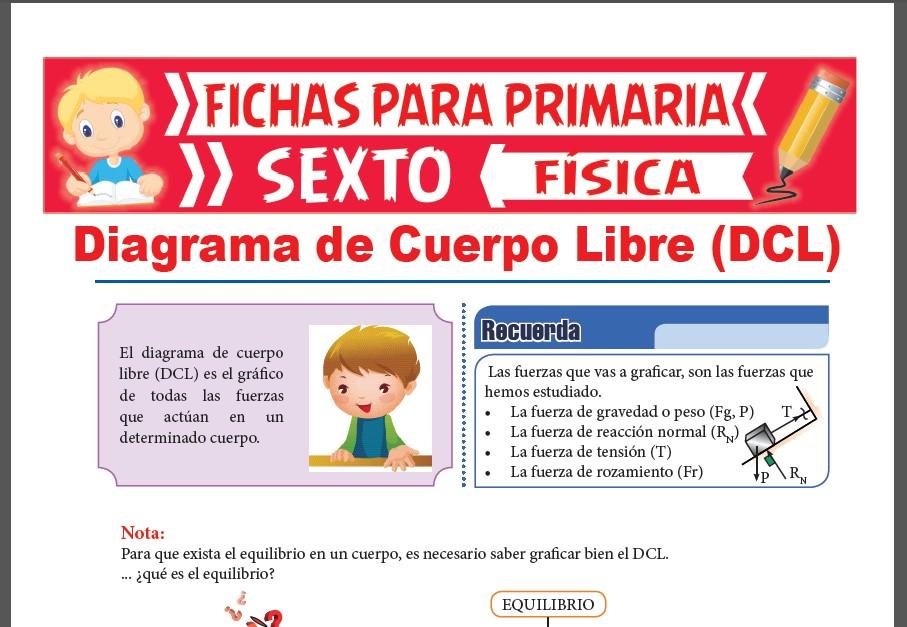 Ficha de Ejercicios de Diagrama de Cuerpo Libre para Sexto Grado de Primaria