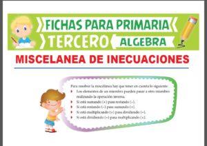 Ficha de Ejercicios de Inecuaciones para Tercer Grado de Primaria