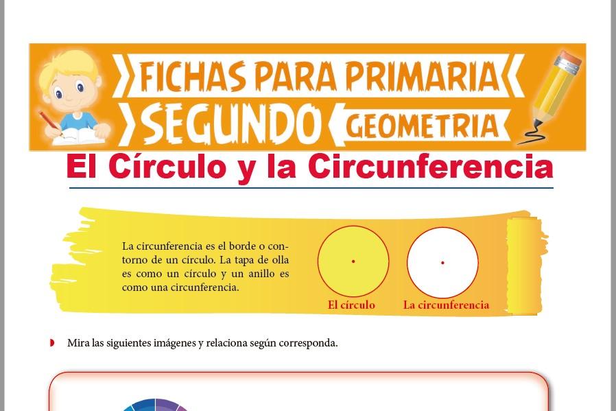 Ficha de El Círculo y la Circunferencia para Segundo Grado de Primaria