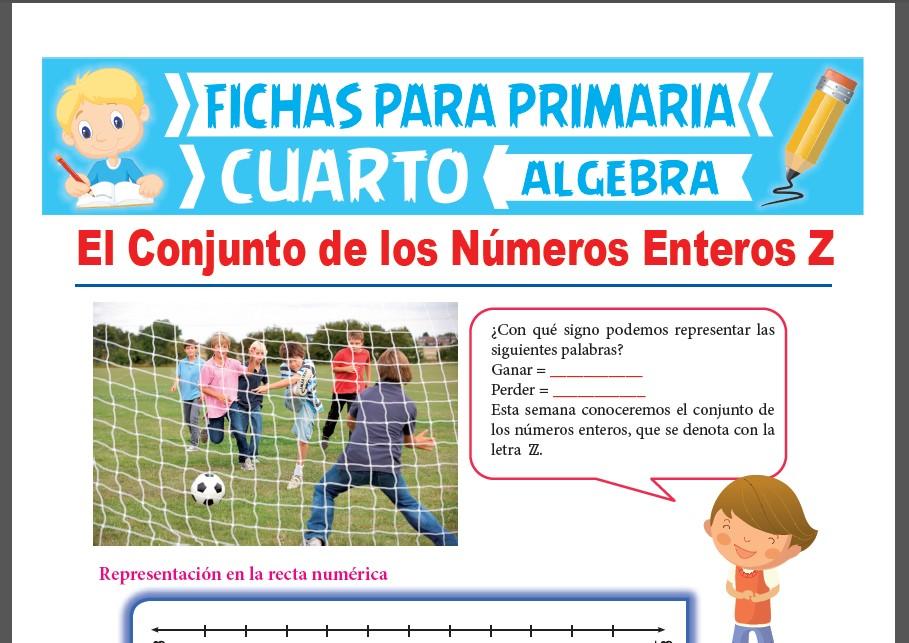 Ficha de El Conjunto de los Números Enteros para Cuarto Grado de Primaria