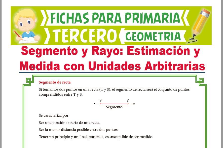 Ficha de El Segmento y Rayo para Tercer Grado de Primaria