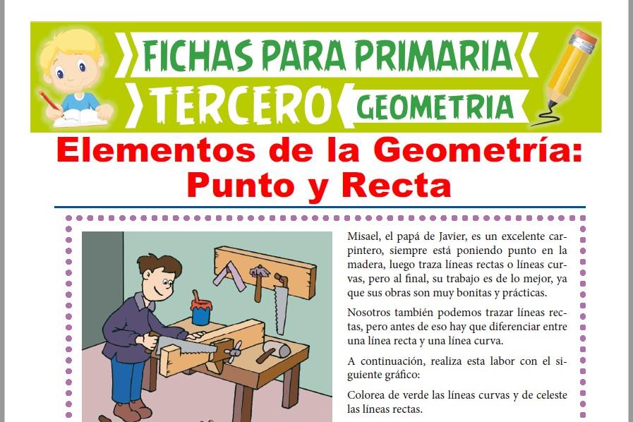 Ficha de Elementos de la Geometría para Tercer Grado de Primaria