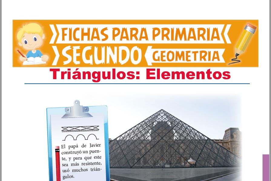 Ficha de Elementos del Triángulo para Segundo Grado de Primaria
