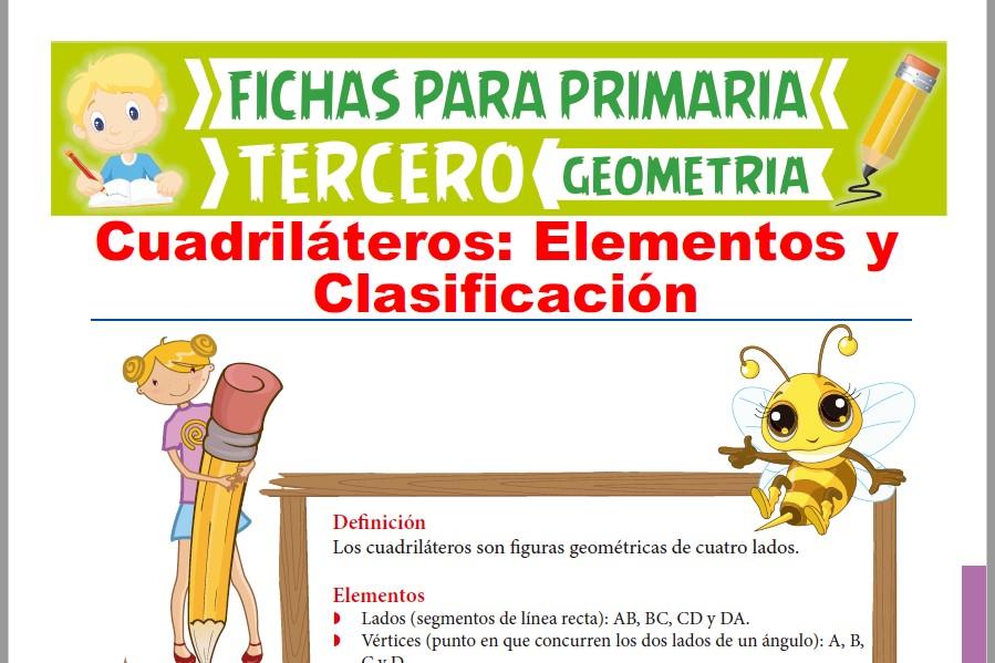 Ficha de Elementos y Clasificación de Cuadriláteros para Tercer Grado de Primaria
