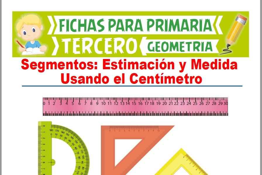 Ficha de Estimación y Medida Usando el Centímetro para Tercer Grado de Primaria