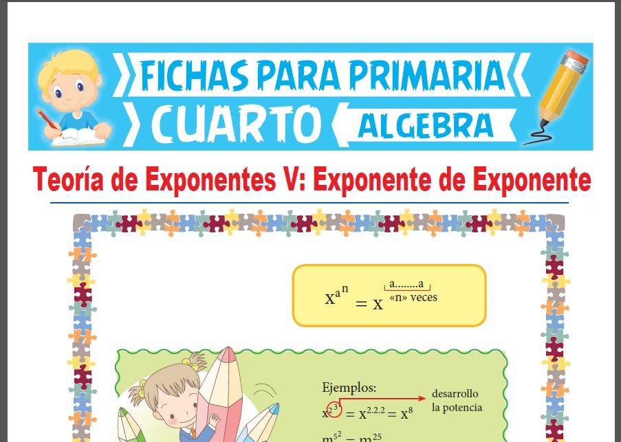 Ficha de Exponente de Exponente para Cuarto Grado de Primaria