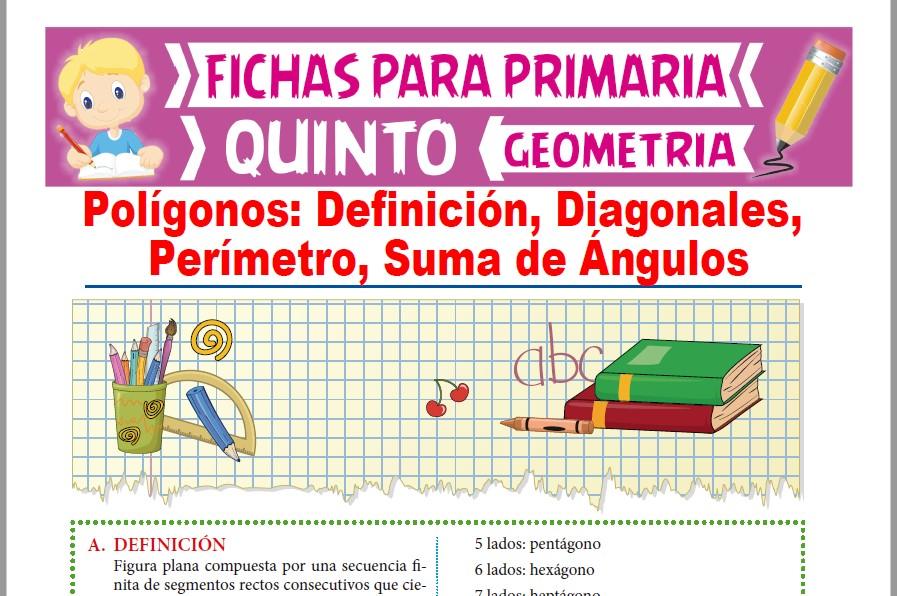 Ficha de Fórmulas de Polígonos para Quinto Grado de Primaria