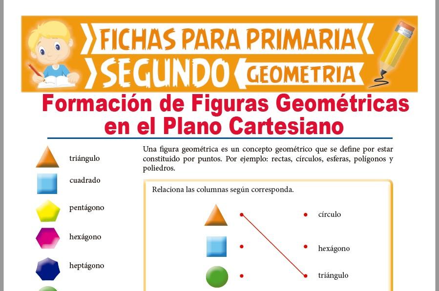 Ficha de Figuras Geométricas en el Diagrama Cartesiano para Segundo Grado de Primaria