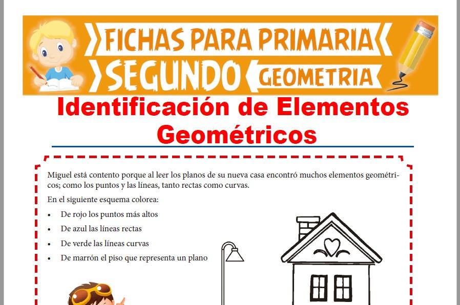 Ficha de Identificación de Elementos Geométricos para Segundo Grado de Primaria