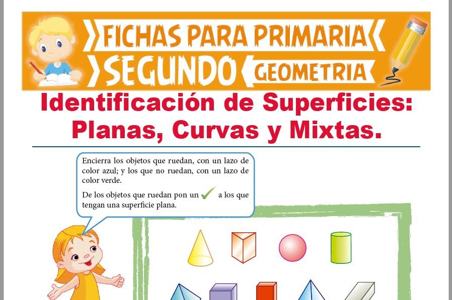 Ficha de Identificación de Superficies para Segundo Grado de Primaria