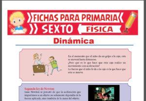 Ficha de Introducción a la Dinámica para Sexto Grado de Primaria