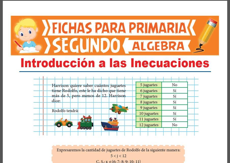 Ficha de Introducción a las Inecuaciones para Segundo Grado de Primaria