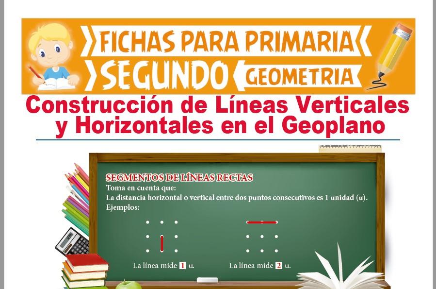Ficha de Líneas Verticales y Horizontales en el Geoplano para Segundo Grado de Primaria
